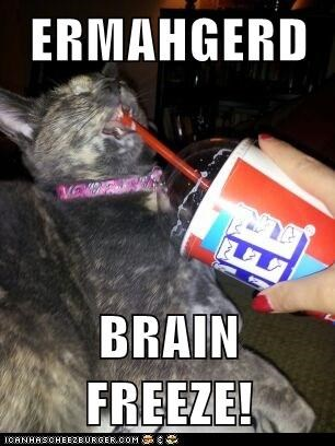 ERMAHGERD  BRAIN FREEZE!