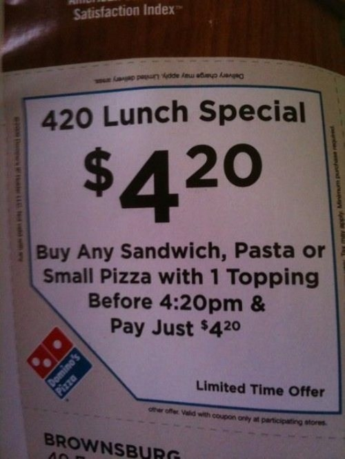 target audience,marijuana,420,pizza,dominos,after 12,g rated