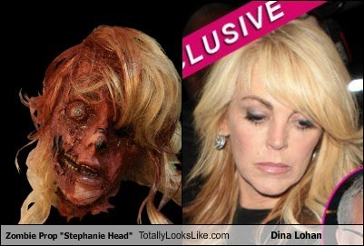 "Zombie Prop ""Stephanie Head"" Totally Looks Like Dina Lohan"