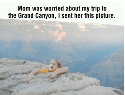 falling,picture,grand canyon,mom