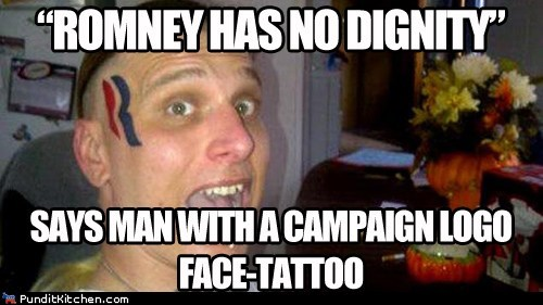 face tattoo,removed,dignity,Romney