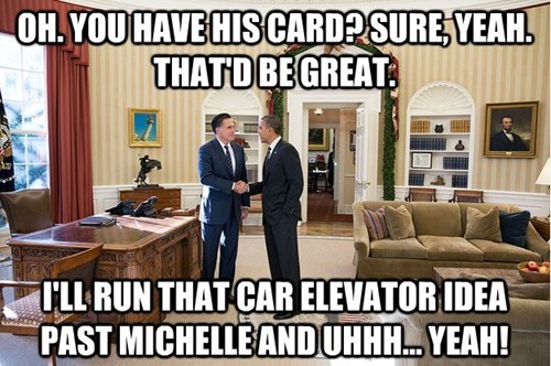 elevator,Mitt Romney,suggestion,barack obama,patronizing