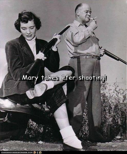 Mary takes 2fer shooting!