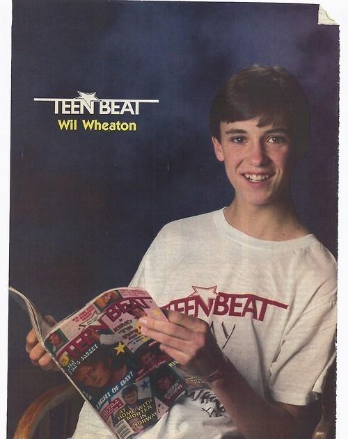 wil wheaton,magazine,teen beat,pin up,1980s