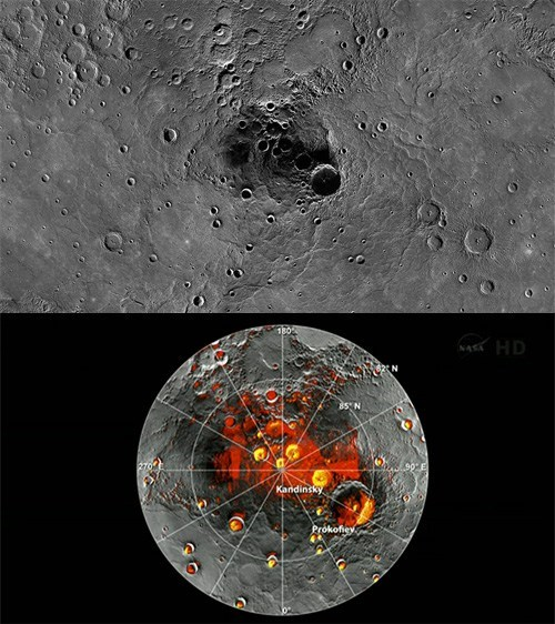 Ice Water Found on Mercury!