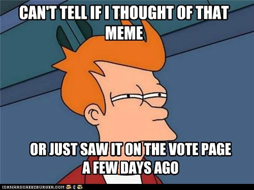 There's a page to vote on memes?