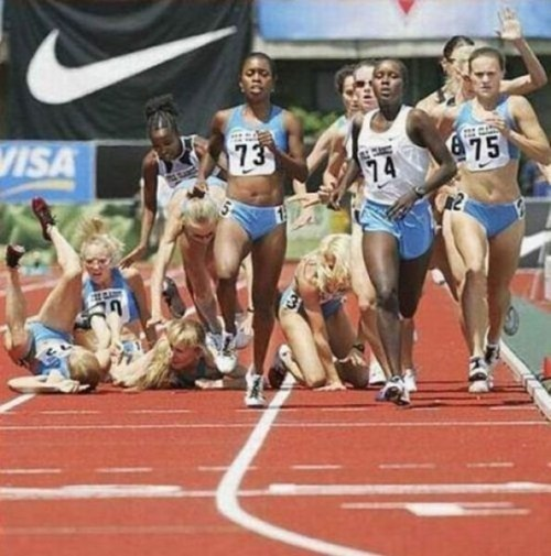 Track and Field Pile-Up FAIL
