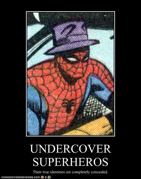 disguise,Spider-Man,undercover,hat