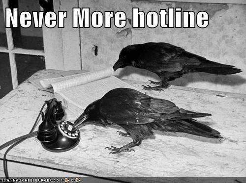 Edgar Allan Poe,crows,phone,ravens