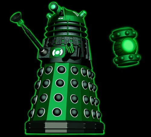 crossover,daleks,doctor who,Green lantern