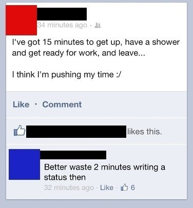 There's Always Time for Status Updates