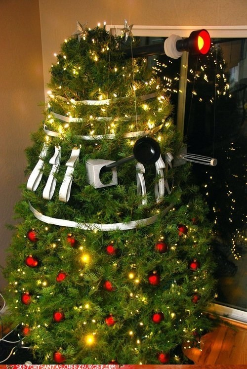 dalek,doctor who,cristmas tree,holidays