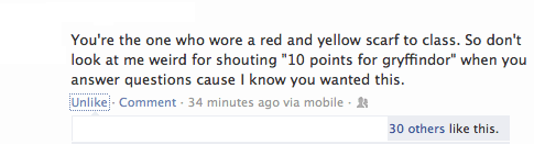 scarf,Harry Potter,10 points for Gryffindor,failbook,g rated,brought this upon yourself