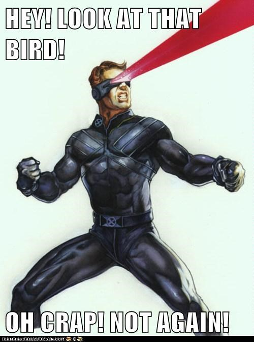 birds,optic blast,cyclops