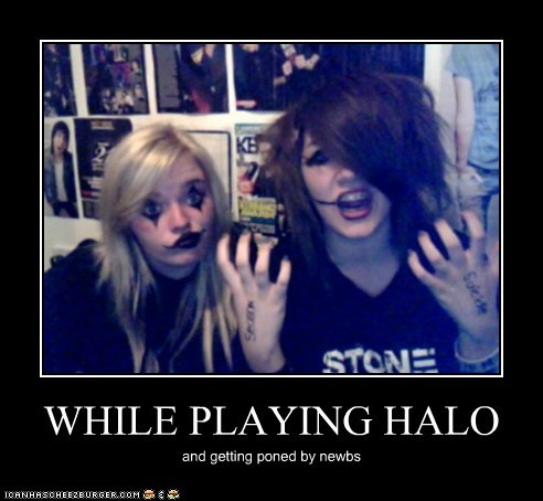 WHILE PLAYING HALO
