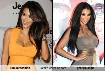 Kim Kardashian Totally Looks Like Georgia Salpa