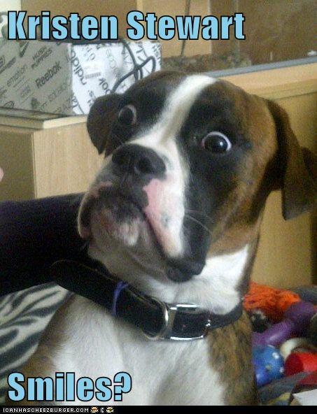 Kristen Stewart  Smiles?