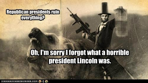 Republican presidents ruin everything?