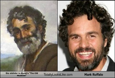 "The Violinist in Manet's ""The Old Musician"" Totally Looks Like Mark Ruffalo"