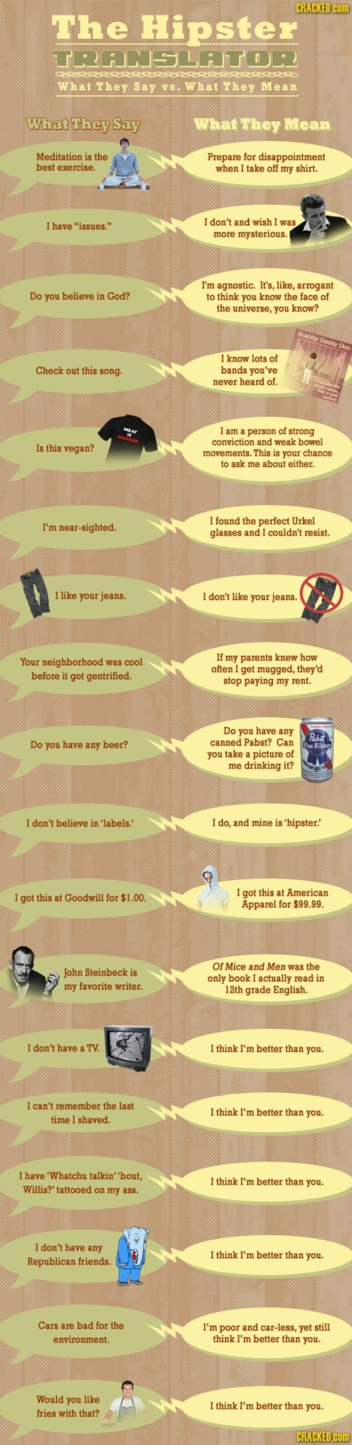 The Hipster Translator