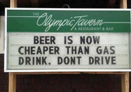 More Importantly, We Don't Have to Drink Gasoline Anymore!