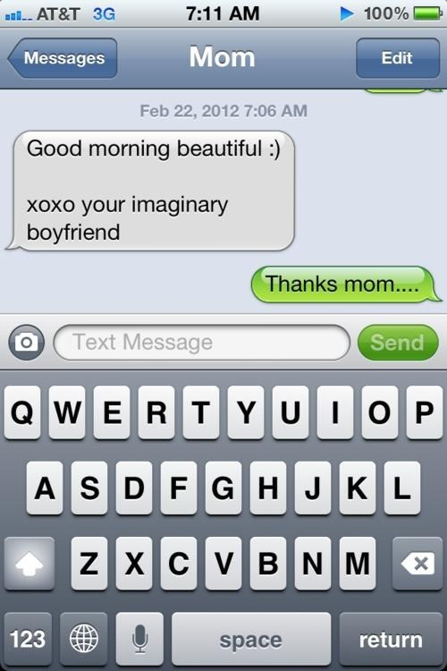 imaginary boyfriend,loneliness,good morning,parents