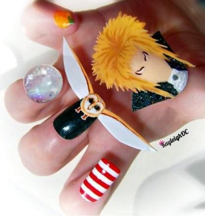 nails,fashion,manicure,crystal ball,david bowie,style,labyrinth
