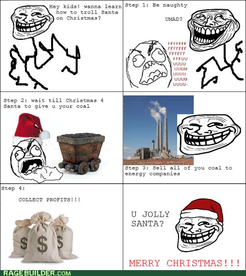 christmas,u mad,coal,troll science,troll face,santa,FUUUUU