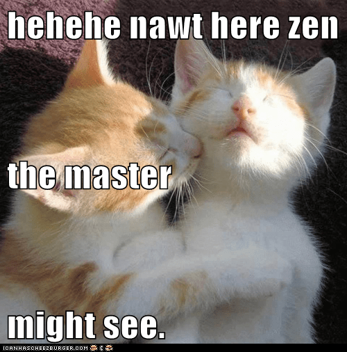 hehehe nawt here zen the master might see.