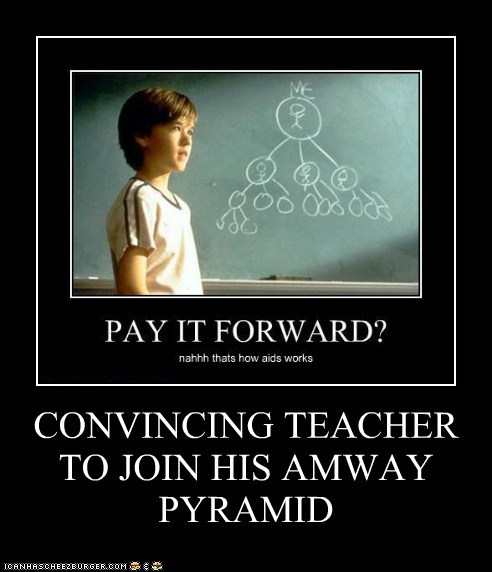 CONVINCING TEACHER TO JOIN HIS AMWAY PYRAMID