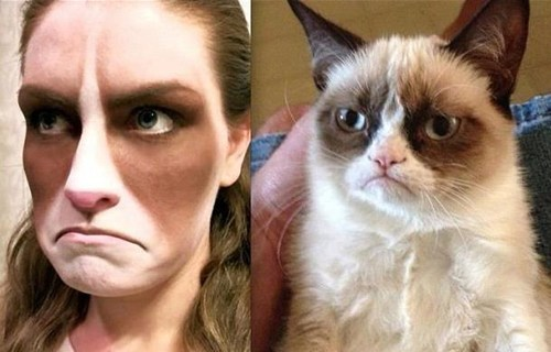 stage makeup,Grumpy Cat