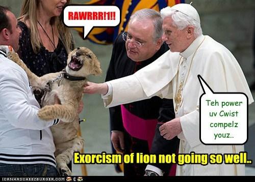 Score: LION/debil 1 - Pope 0