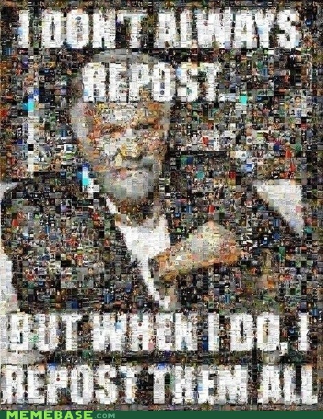 The Most Interesting Reposter in the World
