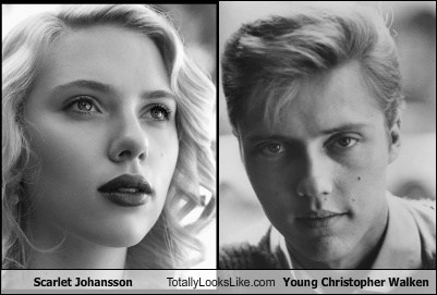 Scarlett Johansson Totally Looks Like Young Christopher Walken