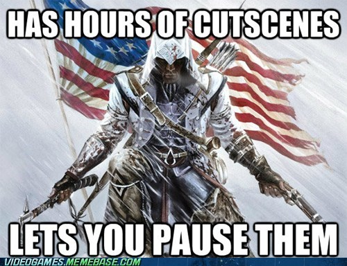 pause,cutscenes,good guy,assassins creed