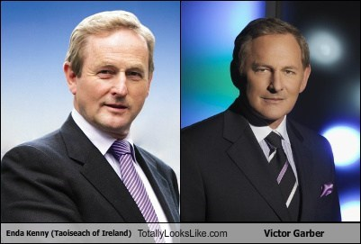 Enda Kenny (Taoiseach of Ireland) Totally Looks Like Victor Garber