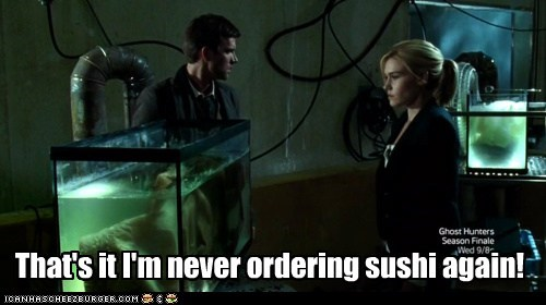 sushi,gross,lucas bryant,audrey parker,fish tanks,emily rose,nathan wuornos