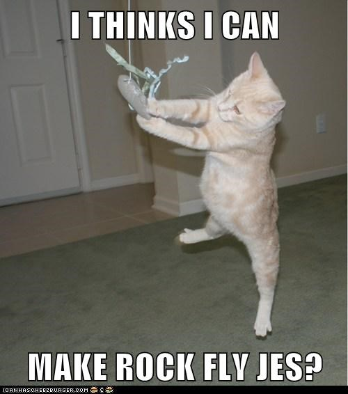 I THINKS I CAN  MAKE ROCK FLY JES?