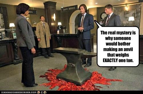 jensen ackles,anvil,Supernatural,dean winchester,misha collins,sam winchester,Jared Padalecki,castiel,mystery