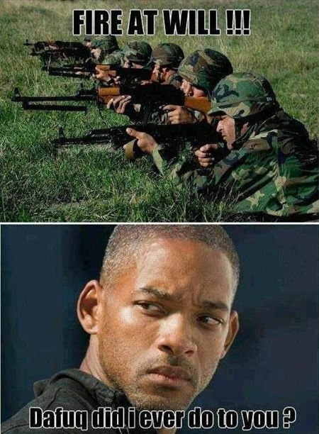 military,dafuq,soldiers,gun,will smith,fire at will