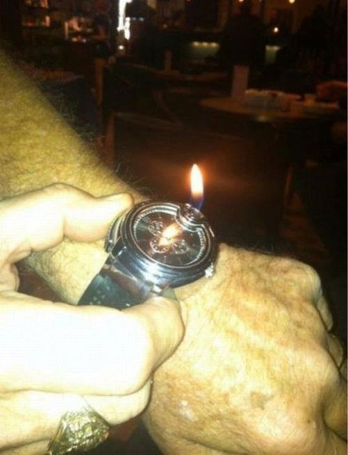 My Watch is a Lighter... You Lose