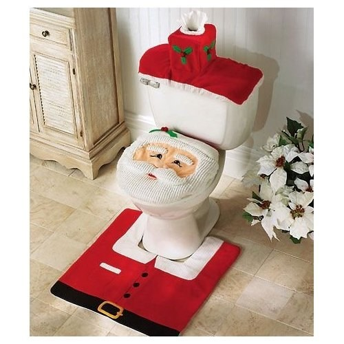 Creepy Santa Toilet is CREEPY
