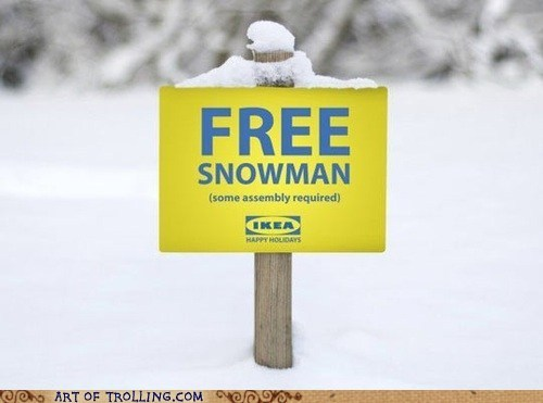 good idea,ikea,free,snowman