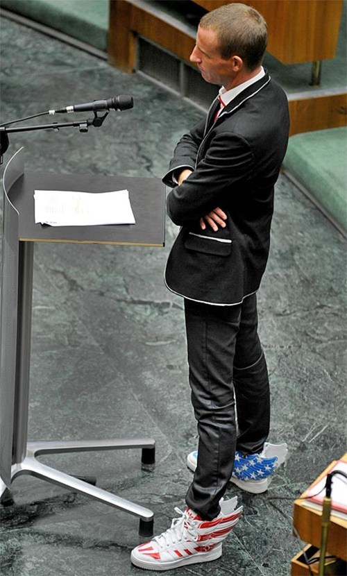 politician,austria,suit,sneakers,poorly dressed,g rated