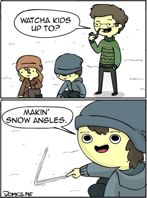 snow angels,angels,puns,comic