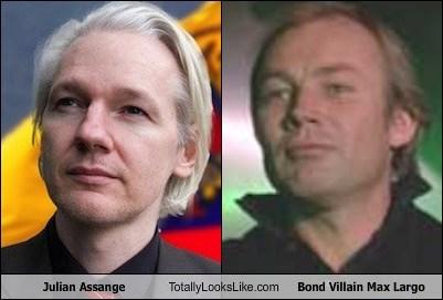 Julian Assange Totally Looks Like Klaus Maria Brandauer (Bond Villain Max Largo)