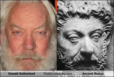 Donald Sutherland Totally Looks Like Ancient Statue