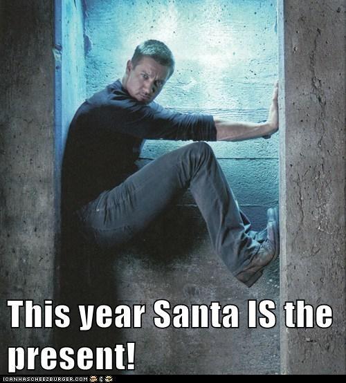 christmas,present,hot,chimney,Jeremy renner,santa