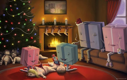 christmas,holiday,alternate universe,morbid