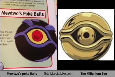 Mewtwo's Poke' Balls Totally Looks Like The Millenium Eye
